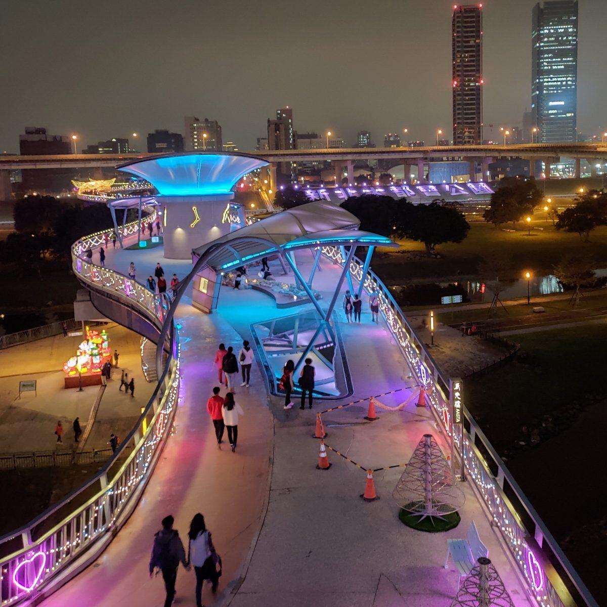 新北市 三重區 大都會公園的夜景